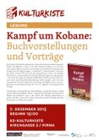 """07.12.2015: Buchlesung """"Kampf um Kobanê"""" und Diskussion"""