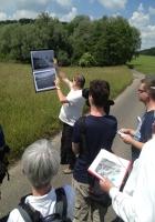 Bildungsfahr 2016: Führung durch das ehemalige KZ Gelände in Oberraderach