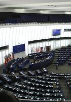 Blick in den Plenarsaal des Europaparlaments